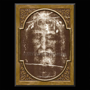 Holy Shroud Plaque & Holy Card Gift Set