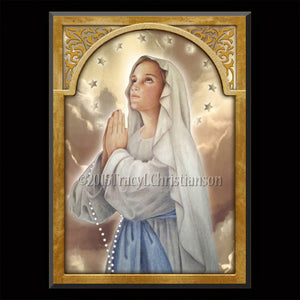 Immaculate Conception Plaque & Holy Card Gift Set