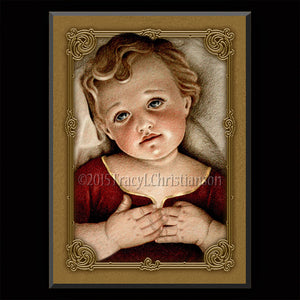 Infant Jesus Plaque & Holy Card Gift Set