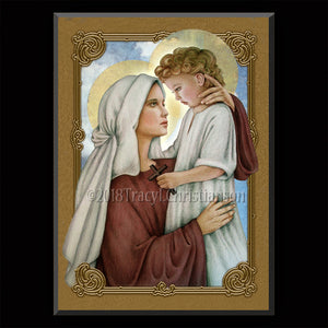 Madonna & Child (N) Plaque & Holy Card Gift Set