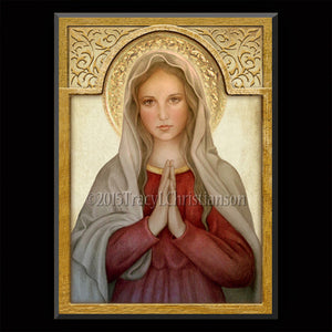 Mary, Mother of God Plaque & Holy Card Gift Set