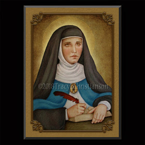 Mary of Agreda Plaque & Holy Card Gift Set