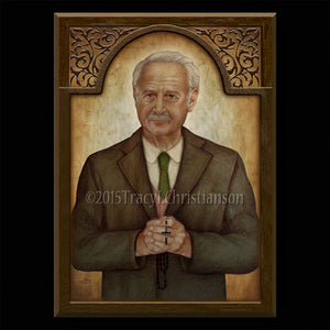 Matt Talbot Plaque & Holy Card Gift Set