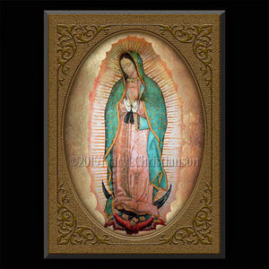 Our Lady of Guadalupe Plaque & Holy Card Gift Set