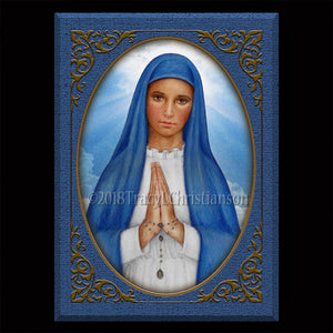 Our Lady of Kibeho Plaque & Holy Card Gift Set