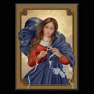 Our Lady Undoer of Knots Plaque & Holy Card Gift Set