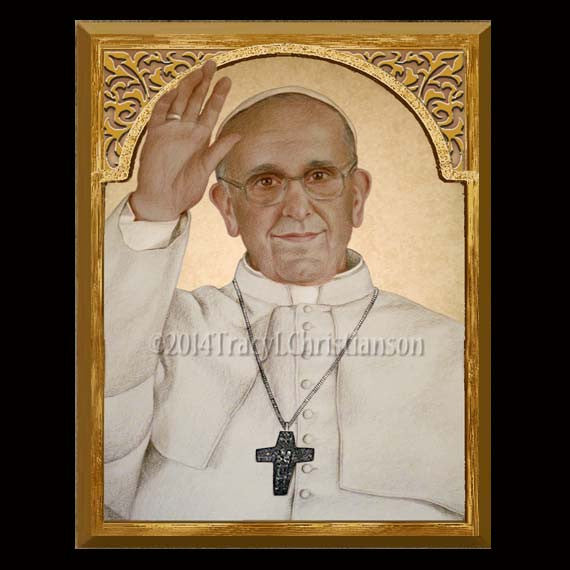 Pope Francis 8x10 Plaque