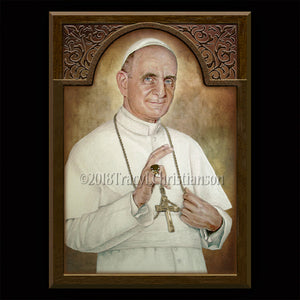 Pope St. Paul VI Plaque & Holy Card Gift Set
