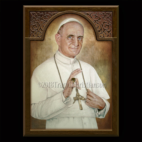St. Pope Paul VI Plaque & Holy Card Gift Set