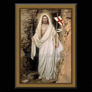 The Resurrection Plaque & Holy Card Gift Set