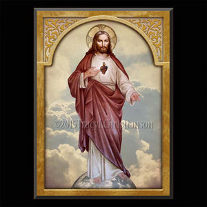Sacred Heart (full-length) Plaque & Holy Card Gift Set