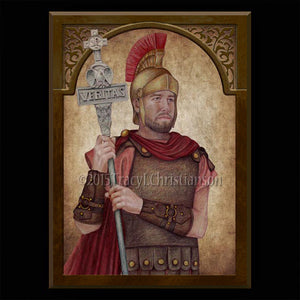 St. Adrian of Nicomedia Plaque & Holy Card Gift Set