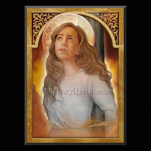 St. Afra Plaque & Holy Card Gift Set