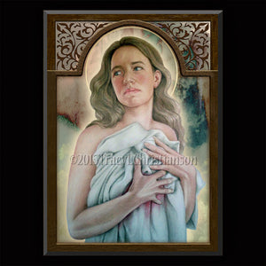 St. Agatha Plaque & Holy Card Gift Set