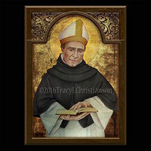 St. Albert the Great Plaque & Holy Card Gift Set