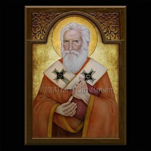 St. Alexander of Jerusalem Plaque & Holy Card Gift Set