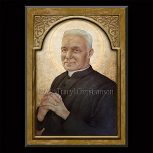 St. Andre Bessette Plaque & Holy Card Gift Set