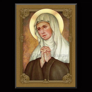 St. Angela Merici Plaque & Holy Card Gift Set
