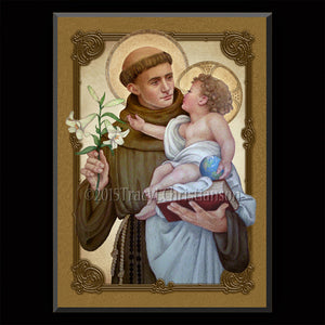 St. Anthony of Padua (B) Plaque & Holy Card Gift Set