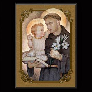 St. Anthony of Padua Plaque & Holy Card Gift Set
