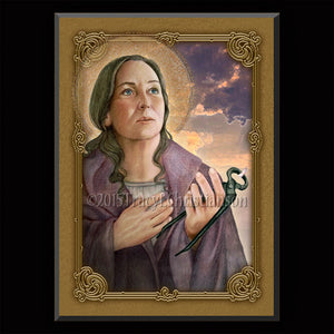 St. Apollonia Plaque & Holy Card Gift Set
