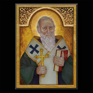 St. Athanasius Plaque & Holy Card Gift Set