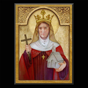 St. Audrey (Etheldreda) Plaque & Holy Card Gift Set