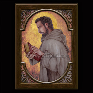 St. Augustine of Hippo Plaque & Holy Card Gift Set