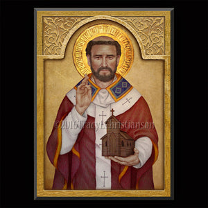 St. Augustine of Canterbury Plaque & Holy Card Gift Set