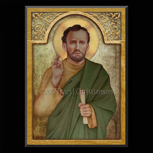St. Barnabas Plaque & Holy Card Gift Set