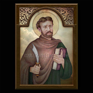 St. Bartholomew Plaque & Holy Card Gift Set