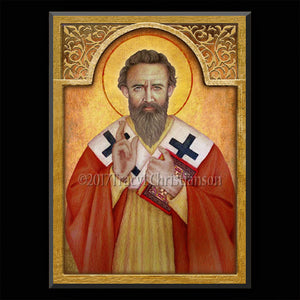 St. Basil the Great Plaque & Holy Card Gift Set