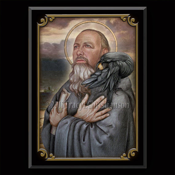 St. Benedict of Nursia Plaque & Holy Card Gift Set