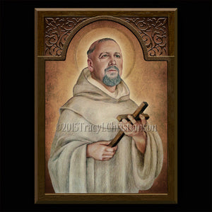 St. Bernard of Clairvaux Plaque & Holy Card Gift Set