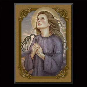 St. Bibiana Plaque & Holy Card Gift Set
