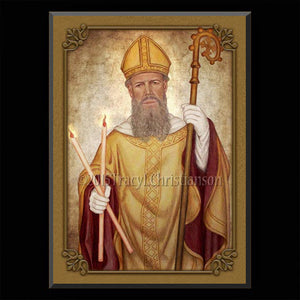 St. Blaise (Blase) Plaque & Holy Card Gift Set