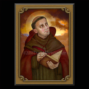 St. Bonaventure Plaque & Holy Card Gift Set