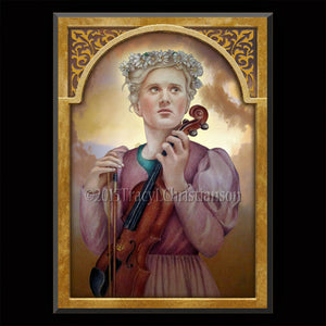 St. Cecilia Plaque & Holy Card Gift Set