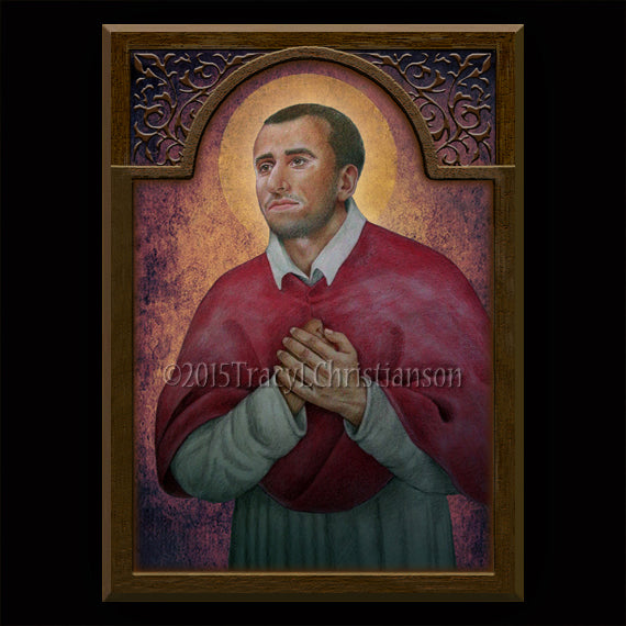 St. Charles Borromeo Plaque & Holy Card Gift Set