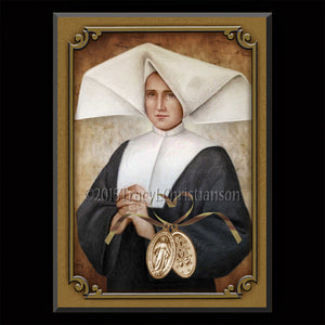 St. Catherine Laboure Plaque & Holy Card Gift Set