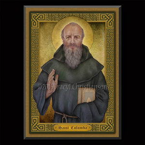 St. Columba Plaque & Holy Card Gift Set