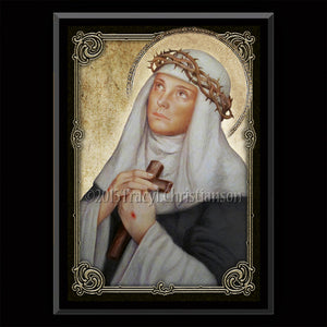 St. Catherine of Siena Plaque & Holy Card Gift Set