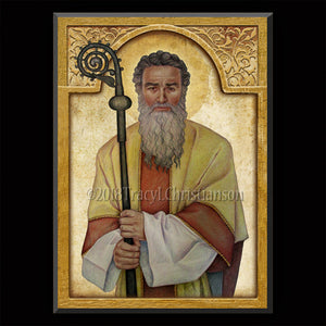 St. Cyprian of Carthage Plaque & Holy Card Gift Set