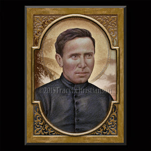 St. Damien of Molokai Plaque & Holy Card Gift Set