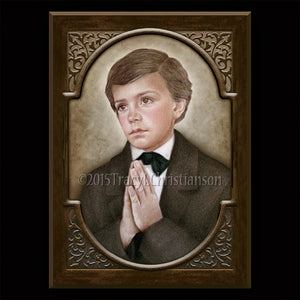 St. Dominic Savio Plaque & Holy Card Gift Set
