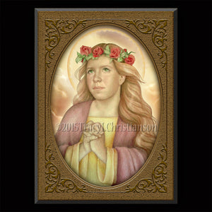 St. Dorothy Plaque & Holy Card Gift Set