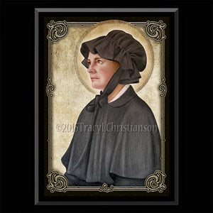 St. Elizabeth Ann Seton Plaque & Holy Card Gift Set