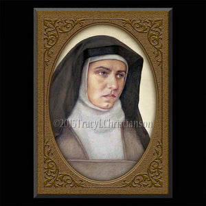 St. Edith Stein (St. Teresa Benedicta of the Cross) Plaque & Holy Card Gift Set