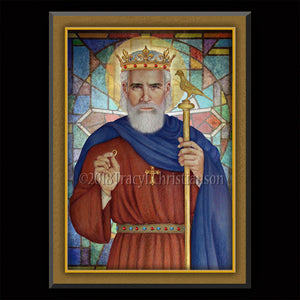 St. Edward the Confessor Plaque & Holy Card Gift Set