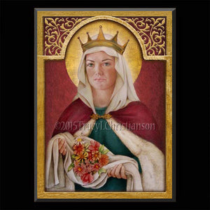 St. Elizabeth of Hungary Plaque & Holy Card Gift Set